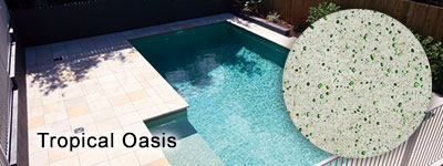 Tropical Oasis Glass Pebble interior pool finish